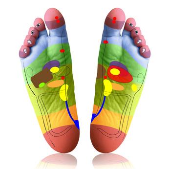angemalte füße - reflexzonen
